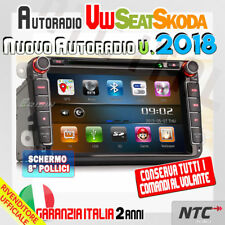 "AUTORADIO 8"" + Mappe VW GOLF 5 6 GTI,New Beetle,Passat,cc,Tiguan,Touran,Scirocco"