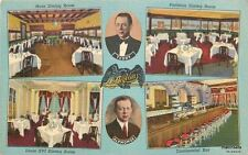 1940s Chicago Illinois L'Aiglon French Cuisine Restaurant Teich postcard 5343