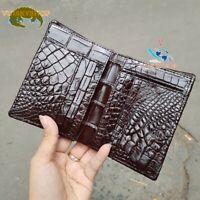 Genuine Crocodile Wallets Skin - Double Side -Bifold Men's - Border Knit VSSVD56
