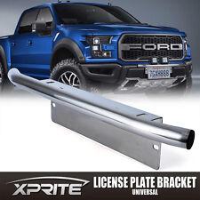 Aluminum Bumper License Plate Mount Chrome Bracket Off-Road LED Spot Light bar