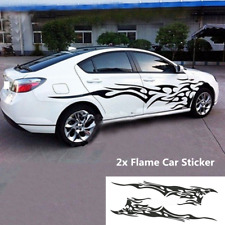 2x Car Body Side Decal Vinyl Flame Graphics Long Stripes Stickers Waterproof DIY