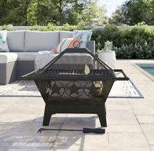 Outdoor wood burning firepit cooking Steel Grill Texas Star Edition 32� Fire pit