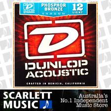 Jim Dunlop Acoustic Guitar String Set Light 12-54 Phosphor Bronze Strings