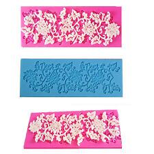 Neu Silikon-Spitze-Kuchen, Form Sugarcraft Fondant-Schokolade-Backen-Form Mould