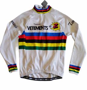 OCG Cycling Jacket White Tommaso Vetements Fleece inside Mens XS