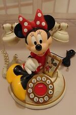 TALKING VINTAGE DISNEY TELEMANIA MINNIE MOUSE COLLECTIBLE TELEPHONE!!! PERFECT!!