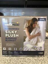 NIB NEW Therapedic Silky Plush Queen Electric Warming Blanket Heating heat warm