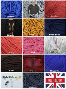 Quality Polyester 5mm Drawstring Corset Lacing Cord Hoodies 2,5,10.15.20 METERS