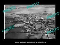 OLD LARGE HISTORIC PHOTO FAWLEY HAMPSHIRE ENGLAND DISTRICT AERIAL VIEW c1950 1