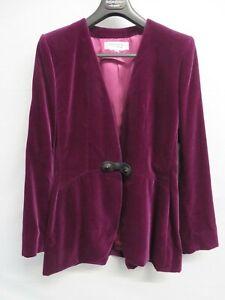 Yves Saint Laurent Rive Gauche purple velvet thigh-length jacket - Size 40