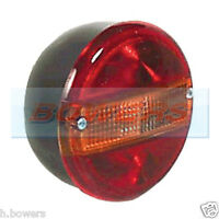 12V 24V UNIVERSAL REAR ROUND HAMBURGER TAIL LAMP LIGHT WITHOUT NUMBER PLATE LAMP