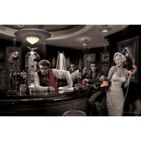"JAVA DREAMS POSTER - CONSANI - MARILYN ELVIS BOGART DEAN - 91 x 61 cm 36 x 24"""