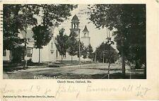 Postcard Chhurch Street Scene, Oakland, Maine - used in 1905