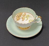 Aynsley Pastel? Green Teacup And Saucer