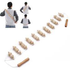 Wooden Back Massager Handheld Wheel Full Body Roller Wheels Neck Health Massage