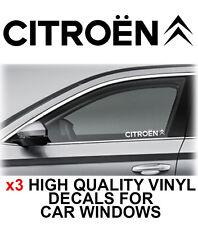 3 x Citroen Window Sticker Decal Graphics