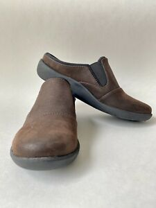 Clarks Cloud Stepper Soft Cushion Dark Brown Comfort mules Slip On Women 5 NWT