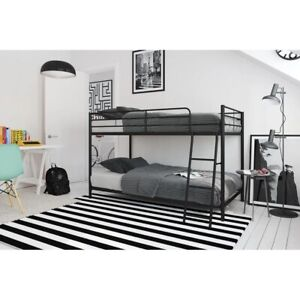 Bunk bed with ladder twin over twin