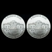 2008 P+D Jefferson Nickel Set ~ Uncirculated U.S. Mint Coins from Bank Roll