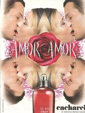 PUBLICITE ADVERTISING 2003 Amor Amor le Nouveau Parfum de chez CACHAREL
