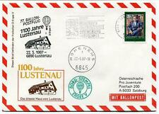 1987 Ballonpost n. 77 Pro Juventute Aerostato D-Ergee V Lustenau Hohenems ONU