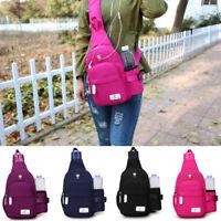 Men Women Travel Bag Backpack Cycle Sling Bag Nylon Crossbody Shoulder Chest
