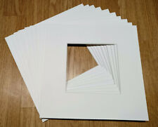 Photo Frame Mounts Bevel Cut Picture Frame Inserts Square - 23 x 23 cm - 10 Pack
