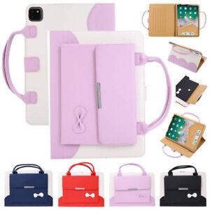 "For iPad 5 6 7 8th Gen Mini Air Pro 10.9 11 12.9"" Bow Leather Handbag Case Cover"
