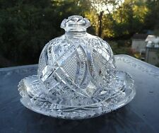 Antique EAPG Ornate Covered Butter Dish