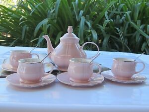 NEW - Cherry Blossom Tea/Coffee cup & Saucer, Tea Pot and Spoon Set - Pink