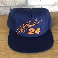 Vintage 90s Jeff Gordon #24 NASCAR Snapback Trucker Hat Cap USA Made Script Vtg