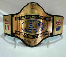 WWF HULK HOGAN 86 WORLD HEAVYWEIGHT WRESTLING CHAMPIONSHIP BELT ADULT REPLICA