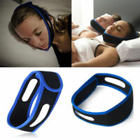 Sleep Apnea Jaw Solution TMJ Snore Stop Belt Anti Snoring Cpap Chin Strap