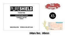 PureShield®  Latex Disposable Powder Free Gloves- XSMALL 1000/CS XS - 6.0 Mil