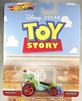2019 Hot Wheels Premium Disney Pixar Toy Story RC CAR Green w/Real Rider Red 5Sp