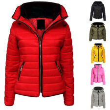KIDS GIRLS PUFFER JACKET WARM BUBBLE FUR COLLAR HOODED PUFFA PADDED QUILTED COAT