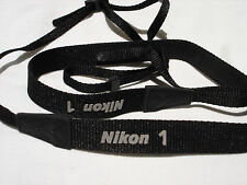 NIKON 1 CAMERA NECK STRAP AN-N1000 for V1 V2 V3 J1 J2 J3 J4 J5 camera , Black