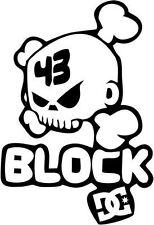"KEN BLOCK DRIFT RACING SKULL Vinyl Decal Sticker-6"" Tall White Color"
