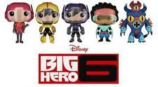 "Big Hero 6 - POP Set 6"" Baymax, Hiro and all the Gang Funko Set"