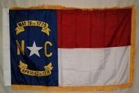 3x5 North Carolina State Poly Nylon Sleeve w/ Gold Fringe Flag 3'x5' Banner