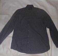 "B&W at Primark Grey Checked Shirt Size 16"" Collar"