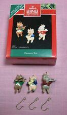 Hallmark 1992 Miniature Ornament Set Harmony Trio Fox Violin Bunny Flute Pig