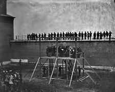 New 8x10 Photo: Death Warrant Read to Lincoln Conspirators before Execution