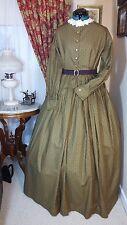 Civil War Reenactment Work Dress Size 14 Gold with Black Design