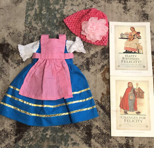VTG American Girl Collection: Felicity Books, Happy Birthday & Changes, Dress