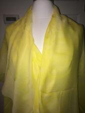NEW Tiffany & Co. yellow cotton HUGE thin T&CO Block scarf wrap shawl ITALY