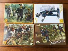 Hat Napoleonic French x 4 Fusiliers Artillery infantry 1/72