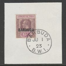 Barbuda 6072 -1922 KG5 6d  on piece with MADAME JOSEPH FORGED POSTMARK