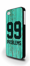 99 Problems Torquoise Wood Texture Cover Case for iPhone 4/4s 5/5s 5c 6 6 Plus