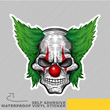 Clown Skull White Background Vinyl Sticker Decal Window Car Van Bike 2868